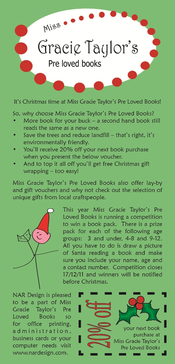 Miss Gracie Taylors Christmas Promotion