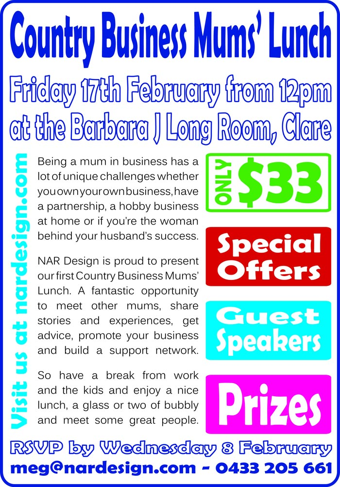 NAR Design present the Country Business Mums Lunch in Clare