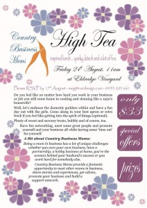 NAR Design Country Business Mums High Tea August 24 2012 at Eldredge Vineyards