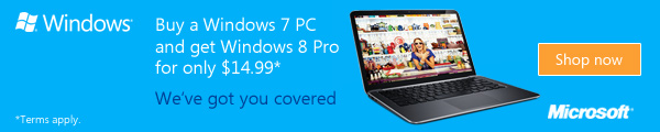 Windows 8 upgrade offer from NAR Design