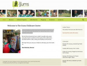 The Gums ChildCare Centre web site upgrade by NAR Design