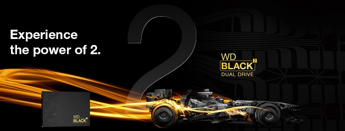 Experience the power of two with WDBlack2 and NAR Design