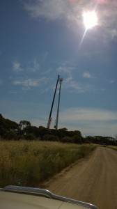 Erecting the NBN FW Tower Blyth