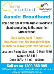 NAR Design and Aussie Broadband at the Rising Sun Auburn 25-9-2015