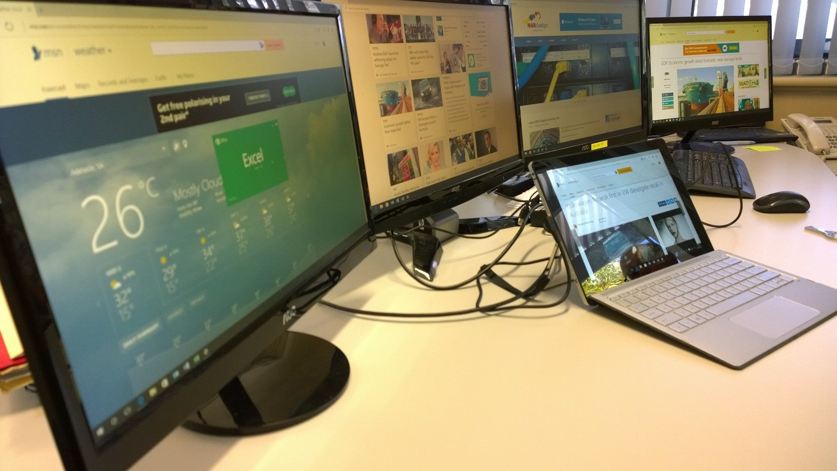 Command Centre V1 Hp Spectre X2 With Four Displays