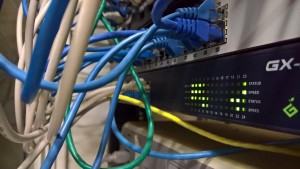 Network cabling, patch panel and switch - NAR Design
